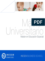 Master en Educación Especial (Titulación Universitaria + 60 Créditos ECTS)