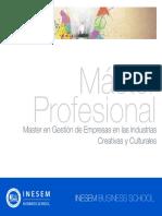 Master en Gestión de Empresas en las Industrias Creativas y Culturales