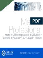Master en Gestión de Estaciones de Depuración y Tratamiento de Aguas ETAP, EDAR, Suelos y Residuos