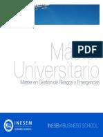 Master en Gestión de Riesgos y Emergencias (Titulación Universitaria + 60 Créditos ECTS)