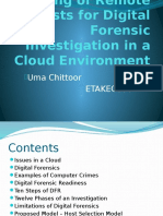 Selection and Ranking of Remote Hosts for Digital Forensic Investigation in a Cloud Environment