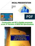4 Construction and QC in Flexible Pavements as Per MORTH 5th Revision A