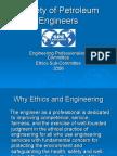 Ethics Society of Petroleum Engineering