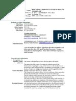 UT Dallas Syllabus for biol3350.0u1.10u taught by Ilya Sapozhnikov (isapoz)