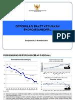Deregulasi Paket Kebijakan Ekonomi Nasional