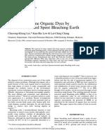 Lee1997 - 97 - Removal of Ethylene Blue Onto HExane Extracted Spent Bleaching Earth