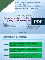 Prezentare Vegetarianism