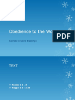 Obedience to the Word