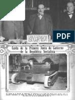 Caida de La 1ª Junta de Gob 1932 Rep Socialista