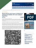 Nueva técnica para lograr la adherencia perfecta de metales con casi cualquier superficie — Noticias de la Ciencia y la Tecnología (Amazings® _ NCYT®)