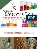 Sonal Properties of Metalic Solid