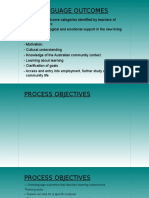 Non-language and Process Objectives