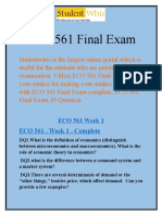 Studentwhiz - ECO 561 Final Exam - ECO 561 Final Exam 39 Questions