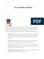 Characteristics of Adult Learners and How to Motivate Them