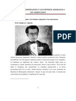 Bernardo de Monteagudo y Los Destinos Asignados a Los Americanos. prof. Mónica Oporto