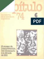 La historia de la literatura argentina - Capítulo 74