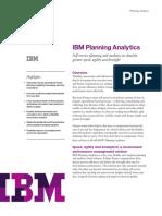 IBM Planning Analytics Data Sheet