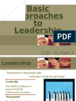 Basic Approaches to Leadership