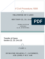 Transfer of Cases Nisha