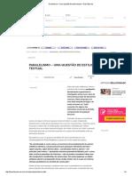 Paralelismo – Uma Questão de Estilo Textual - Brasil Escola