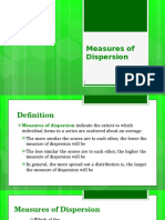 Measures of Dispersion (1)