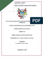 HIDRAULICA BASICA - InFORME Nº 1 Trabajo de Investigacion - Mamani Ayque John
