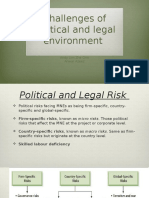 Challenges of political and legal environment