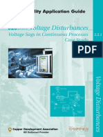 Voltage Sags in Continuous Processes - Case Study