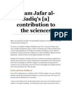 Imam Jafar al-Sadiq's contribution to the sciences.doc