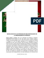 MONOLOGOS DE LOS PERSONAJES DESTACADOS DE LA INDEPENDENCIA DE MEXICO..docx