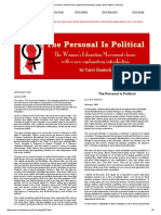 The Personal is Political_ the Original Feminist Theory Paper at the Author's Web Site
