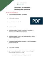 Lista de Exercícios EletAnalógicaRESPOSTAS