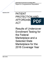 20160912 - GAO Report on Obamacare Fraud
