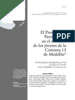 Pp en El Contexto de Los Jovenes d Ela Comuna 13