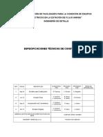Especificaciones Técnicas Ajuste Pdvsa