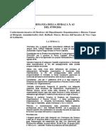 Ordinanza N 63 Del 07.09.2016