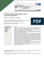 Tratamiento Ideal Del Helicobacter Pylori
