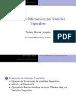 Ecuaciones Diferenciales Por Variables