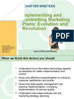 Chapter 19 - Implementing and Controlling Marketing Plans_evolution and Revolution