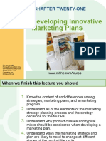Chapter 21 - Developing Innovating Marketing Plans