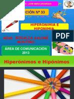 Hiponimos e hiperonimos