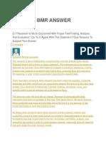 Bmr Answer
