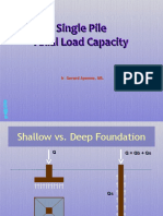 Axial Pile Capacity Based on Statics Method