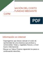 Determinación Del Costo de Oportunidad Mediante CAPM 1