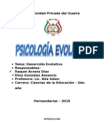 Psicología Desarrollo evolutivo