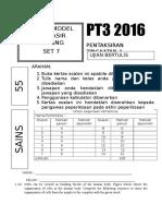 Modul Soalan Sains PT3 Set 7