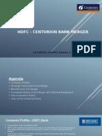 Finance HDFC - Centurion Bank Merger