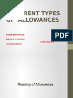 types of Allowances