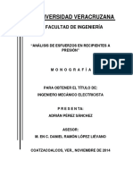 Monografía RECIPIENTES A PRESIÓN