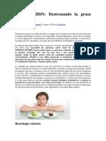 Protocolo HSN Pérdida de Grasa - Sergio Espinar